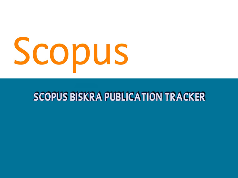 Scopus Biskra Publication Tracker - septembre 2020 -
