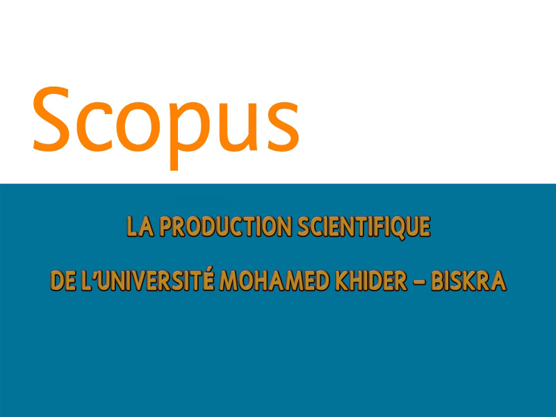 Livre sur la production scientifique de l'Université Mohamed Khider -2000..2020